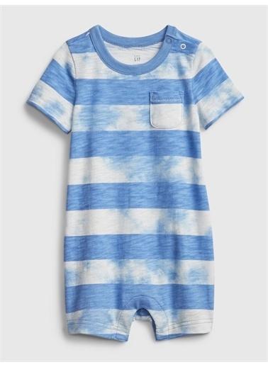 Gap Tie-Dye Kısa Kollu Tulum Mavi